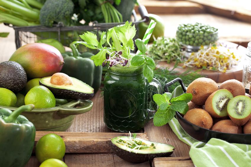 Bild mit Obst und Gemüse