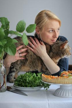Köchin Lea und Katze Mookie