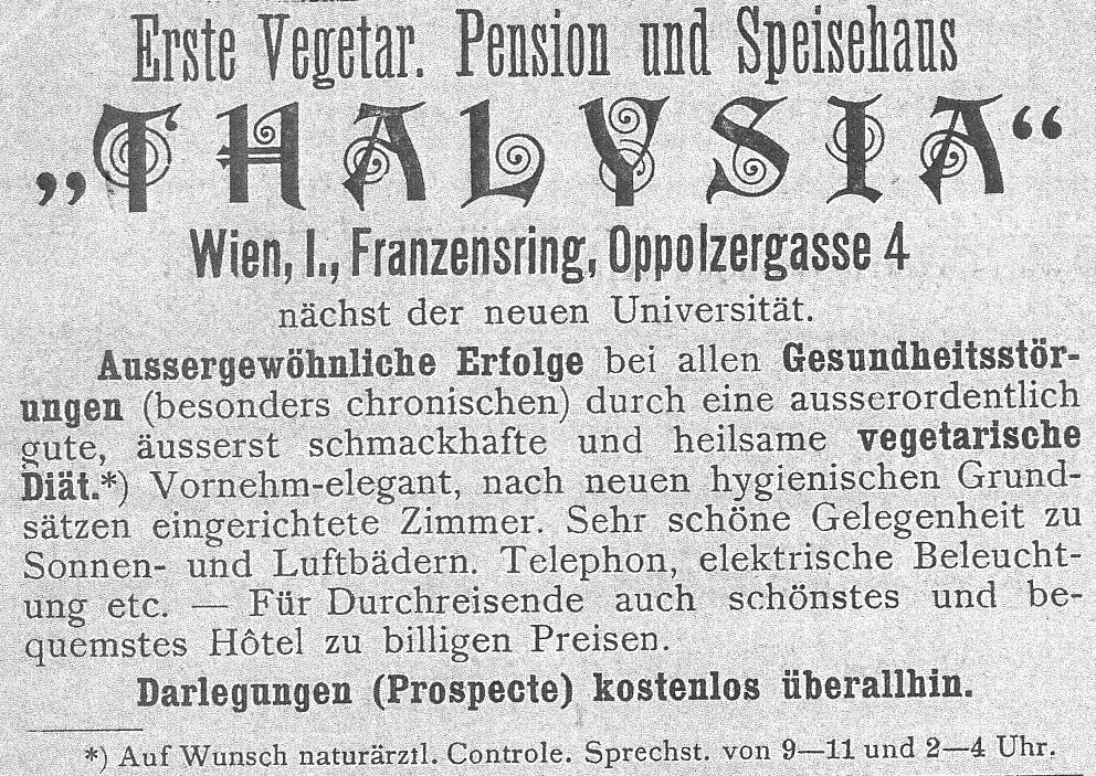 Inserat aus: Nachrichtenblatt des Allgemeinen österreichischen Naturheilvereins