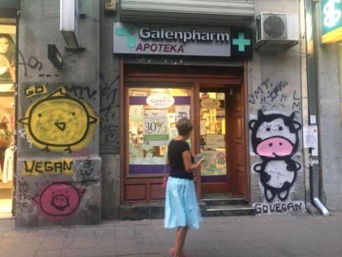 Belgrader Vegangraffiti