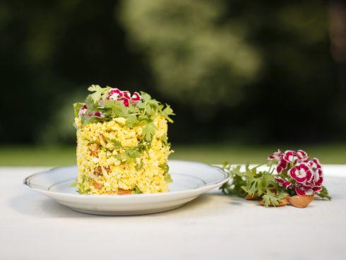 Orientalischer Gemüsereis mit Mandeln