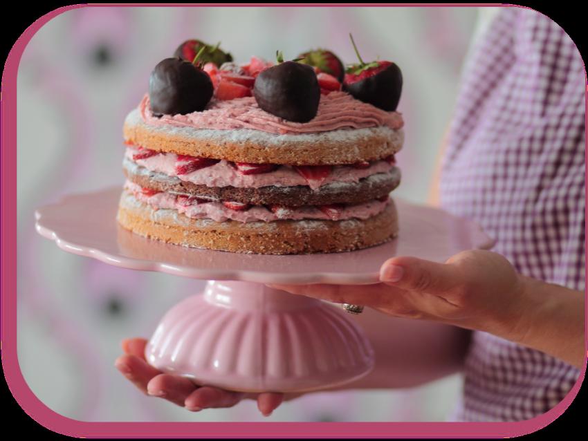Schoko erdbeer torte vegan
